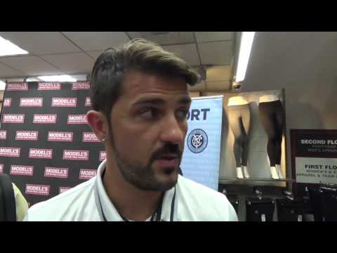 Interview with New York City FC Captain David Villa from his appearance at Modell's on  10/20/16
