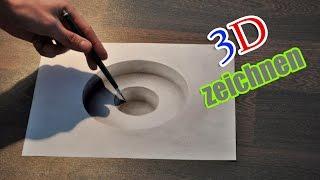 3D zeichnen Illusion malen/ Zeitraffer