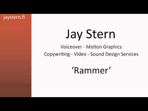 Jay Stern Voiceover Reel