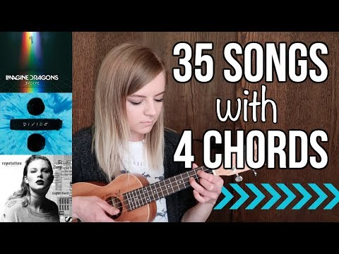 4 basic chords, 35 songs on ukulele