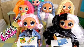 LOL OMG Doll Family First Day of School New Student Morning Routine