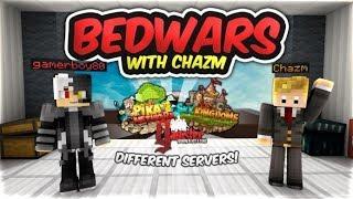 Playing Bedwars RIPOFF Servers