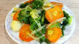 Как приготовить замороженные овощи. Мамулины рецепты.