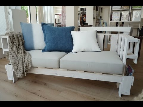 C mo fabricar un sof de palets usando medios caseros doovi for Sofa exterior casero