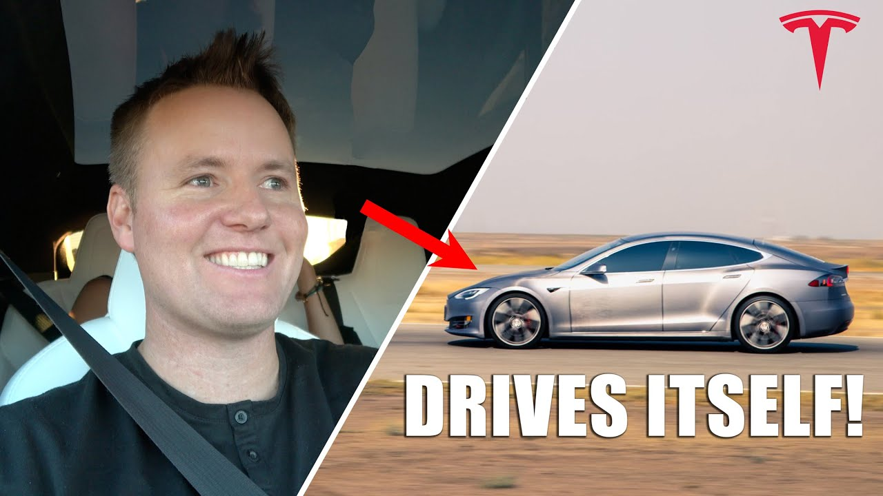First Drive in Fully Autonomous Tesla!