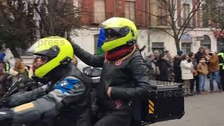 Miles de motos desafían al frío y rugen en Valladolid