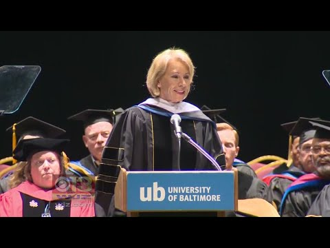 Some In University Of Baltimore Graduation Crowd Boo, Turn Backs On DeVos