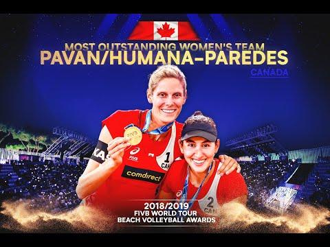 Pavan/Melissa -  Most Outstanding Women's Team | FIVB World Tour Beach Volleyball Awards 2018/19