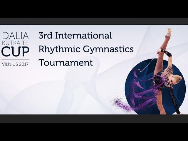 3rd International rhythmic gymnastics tournament for Dalia Kutkait? Cup 2017, Vilnius Lithuania.