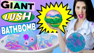 DIY GIANT Lush Bath Bomb! | How To Make The BIGGEST RAINBOW Bath Bomb In The World! | BIG BATH NUKE!