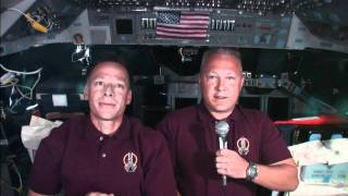 STS-135 Centennial of Naval Aviation Message