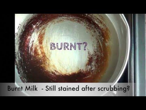 BURNT MILK ? Quick Cleaning for burnt saucepans