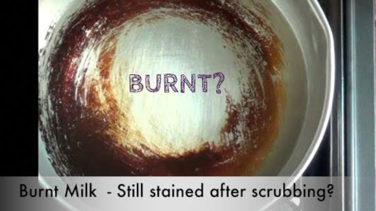 Burnt Milk Quick Cleaning For Burnt Saucepans Youtube