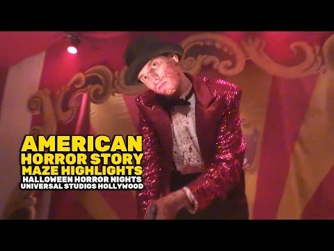 American Horror Story maze highlights at Halloween Horror Nights 2016, Universal Studios Hollywood