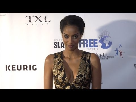 Azie Tesfai  Human Rights Hero Awards Red Carpet Arrivals