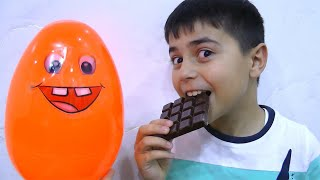 Guka taste different chocolate from giant surprice egg