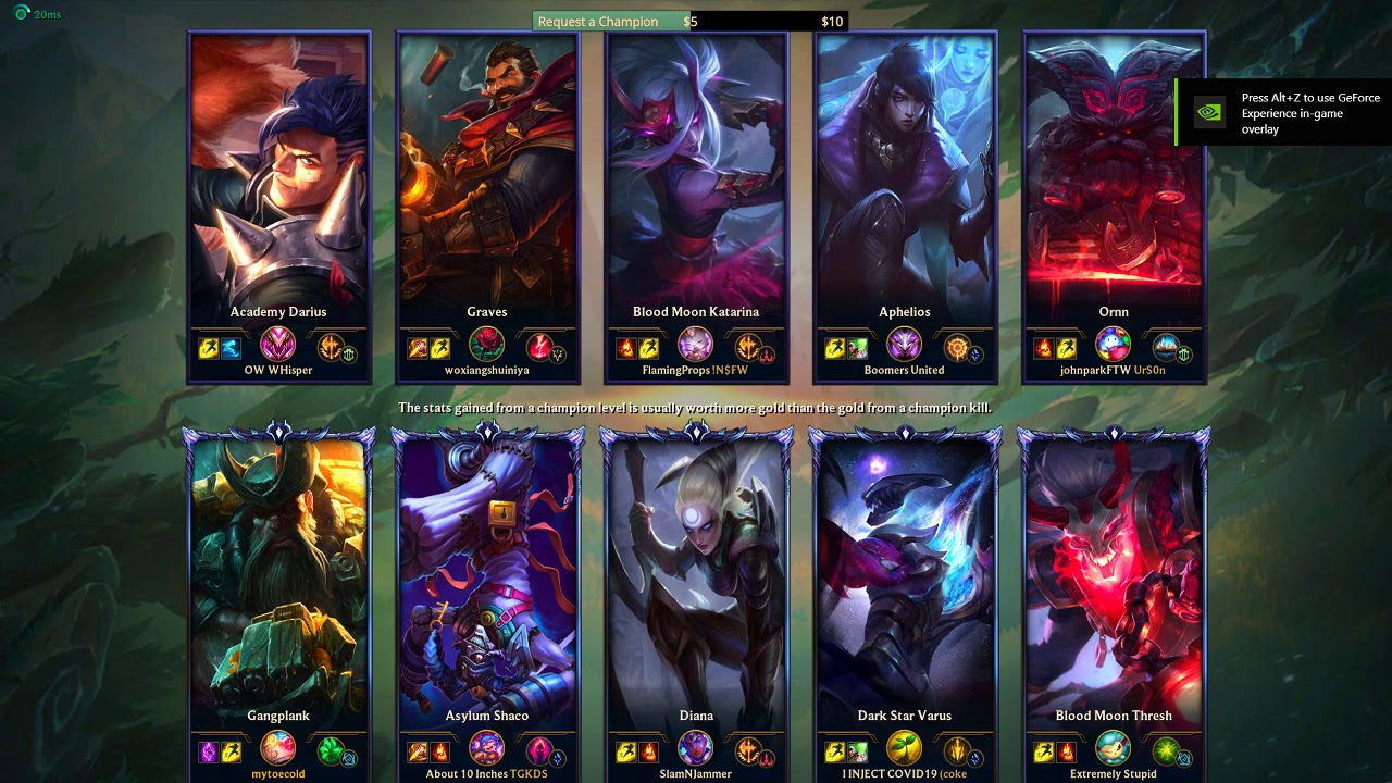 04/14/2020 Fill NA Solo Queue