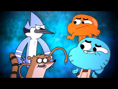Gumball & Darwin vs Mordecai & Rigby 2 - Epic Cartoon Made Rap Battles Season 2
