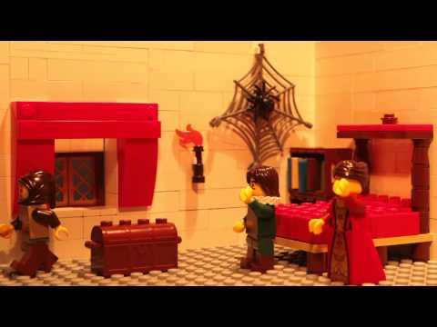 Hugo de Groot ontsnapt uit Slot Loevestein in Lego