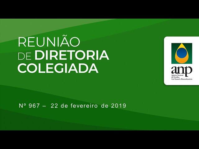 Reunião de Diretoria Colegiada nº 967 - 22 de Fevereiro de 2019
