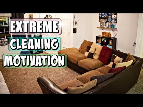 CLEAN WITH ME 2018 | MESSY HOUSE SPEED CLEANING MOTIVATION | CLEANING NEARLY ENTIRE HOUSE