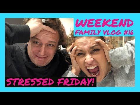 WEEKEND VLOG #16 - Its Friday NIGHT & Nadia & Mark get DEPRESSED, STRESSED & Nadia BINGES!!!