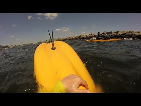 Kayak Flipped Over - Manasquan Inlet
