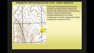 Определение абсолютной и относительной высоты точек на карте. Контрольно проверочные занятия. КПЗ.