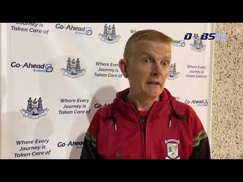 Ballymun Kickhams manager Brendan Hackett speaks to DubsTV following victory over Thomas Davis
