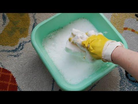 Чем почистить белый ковер или палас. Соль,мыло или моющее средство?