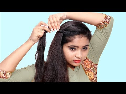 4 Beautiful Self Hairstyle for Girls || Self Hairstyles 2019 || Quick Hairstyles for Party/Wedding thumbnail