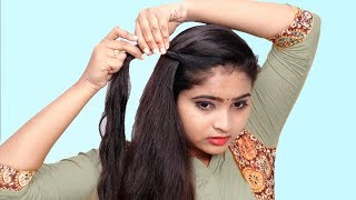 4 Beautiful Self Hairstyle for Girls || Self Hairstyles 2019 || Quick Hairstyles for Party/Wedding