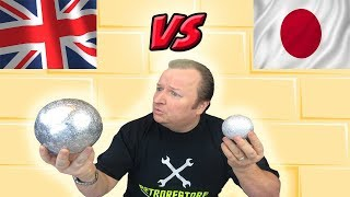 British Polished Aluminium Foil Ball Japan Versus UK  Who Wins