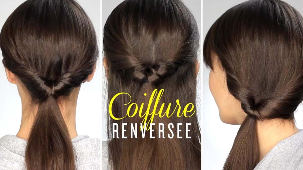 tuto coiffure queue de cheval renvers e youtube. Black Bedroom Furniture Sets. Home Design Ideas