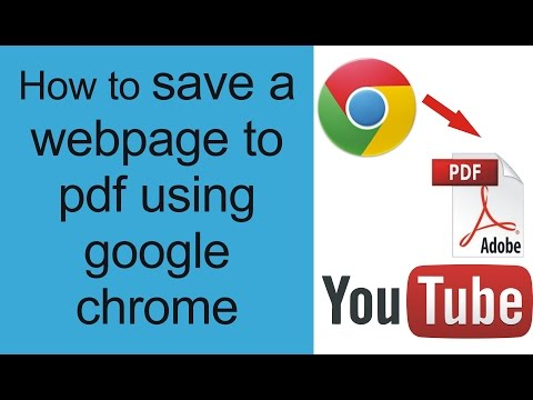 How To Convert Webpage To Pdf Chrome Free Without Online