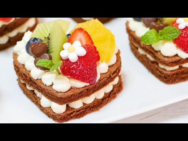 ハートのフルーツケーキ Heart fruit cake