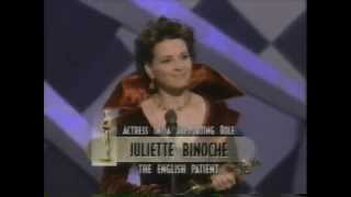 Juliette Binoche winning Best Supporting Actress for The English Patient