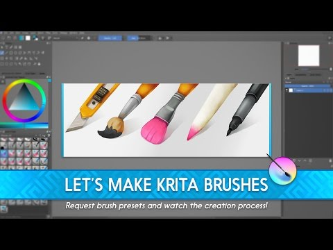 🔴[LIVE] Making free Krita brushes for you - YouTube