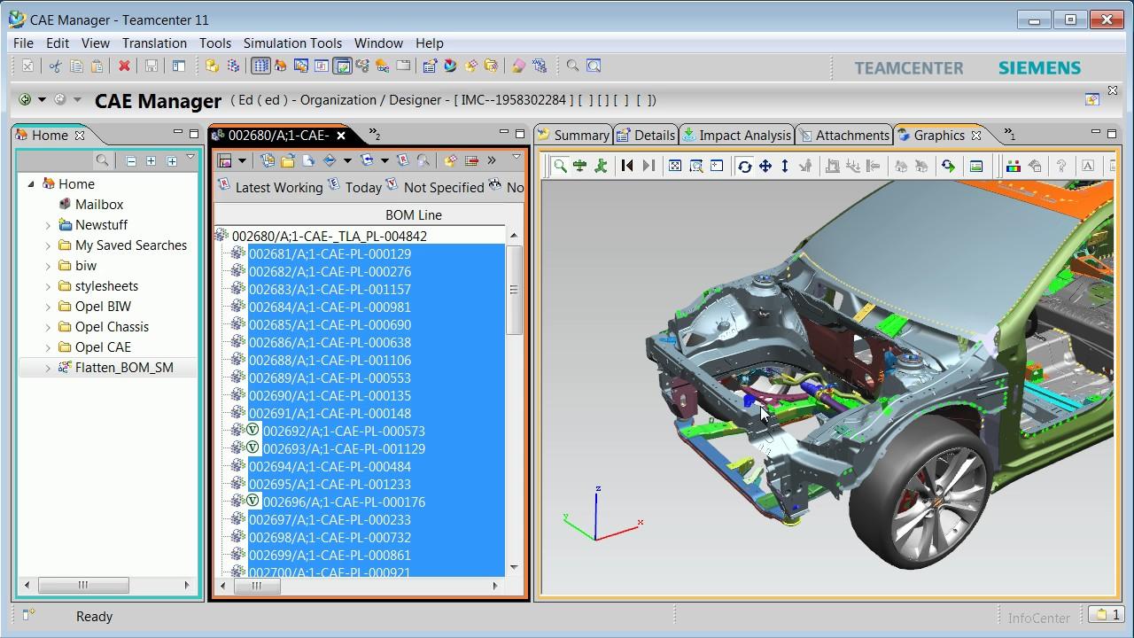 Teamcenter Simulation Data Management - Demonstration