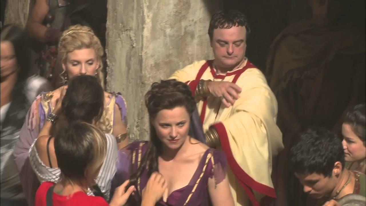 """spartacus: vengeance - bonus clip """"making of -- costumes"""" - youtube"""