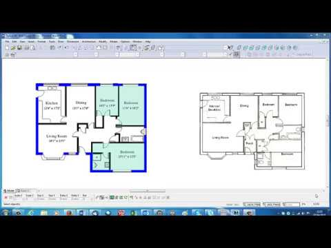 Introduction to tutorials Drawing 2D House Plans with TurboCAD Deluxe.