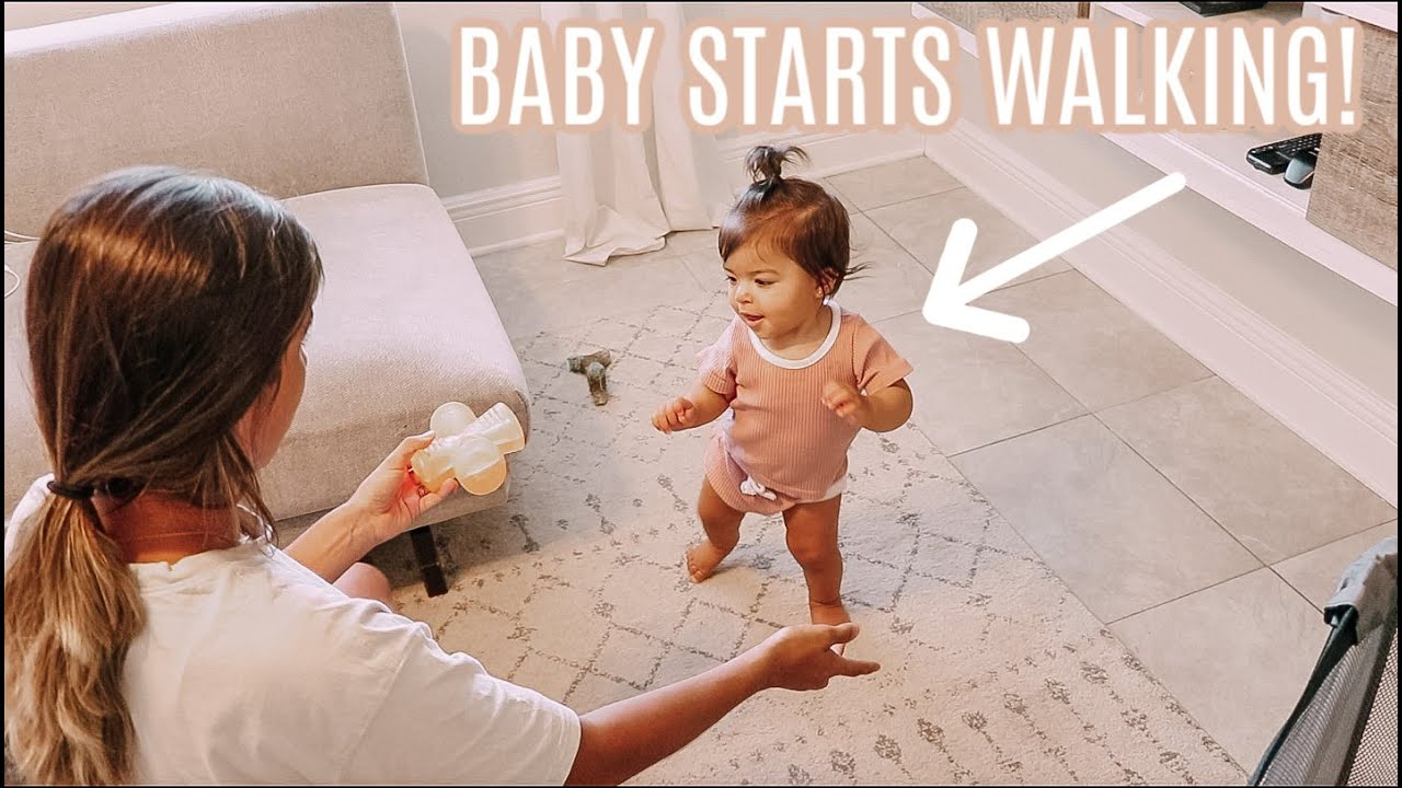 BABY TAKES FIRST STEPS! DITL | Groceries, Organizing