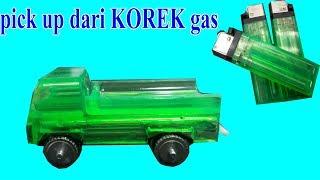 cara membuat miniatur mobil Pick Up dari korek gas bekas