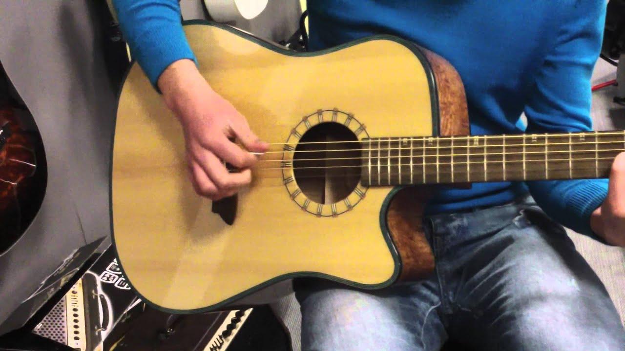 Test guitare acoustique WASHBURN D46SCE - YouTube