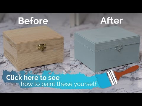 How-to Paint a Keepsake Box with Farmhouse Paints