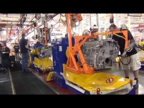 Extreme Truckers join the Detroit Diesel Factory tour