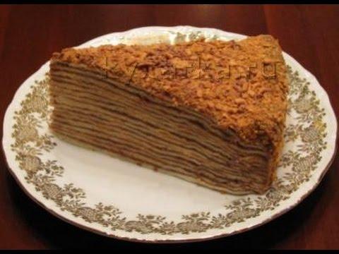 шоколадный наполеон торт рецепт с фото