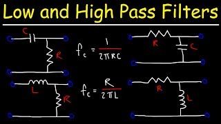 Low Pass Filters and High Pass Filters - RC and RL Circuits