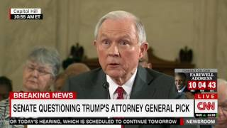 "Sessions: Same sex marriage is ""settled law"""