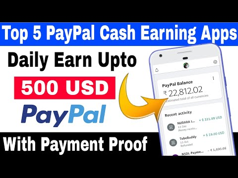 Top 5 Paypal Cash Earning Apps 2021 🔥| Best Paypal Earning Apps with Payment Proof
